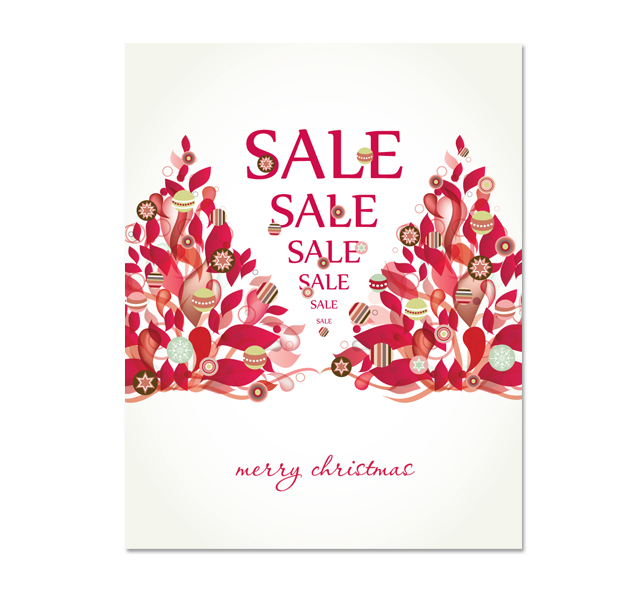 Contemporary Christmas Sale Poster Template