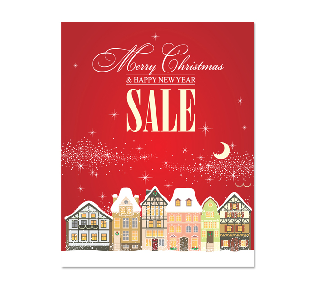 christmas sale poster template
