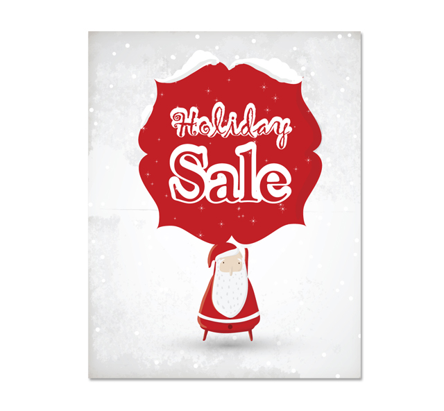 red santa sale poster template. Black Bedroom Furniture Sets. Home Design Ideas
