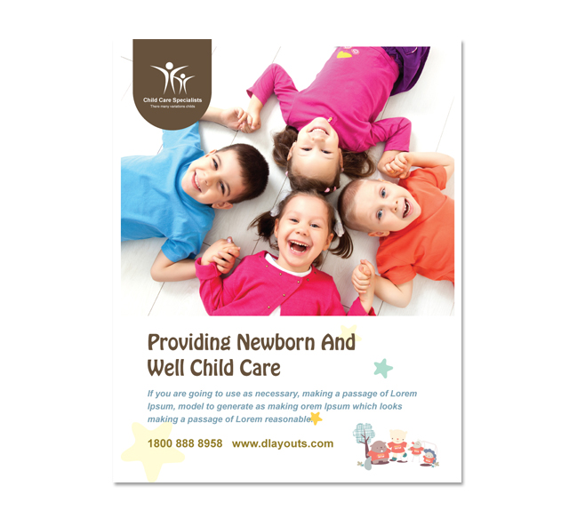 Child Care Specialists Poster Template