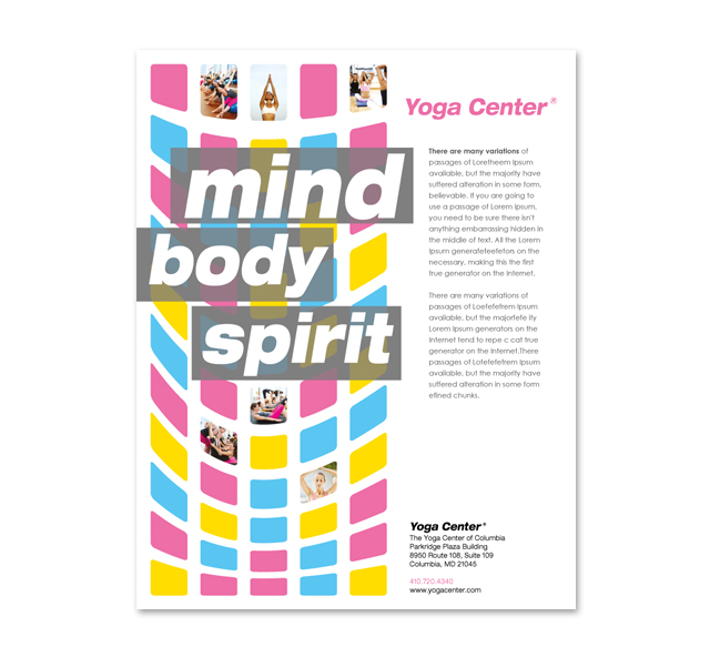 Yoga Instructor & Studio Poster Template