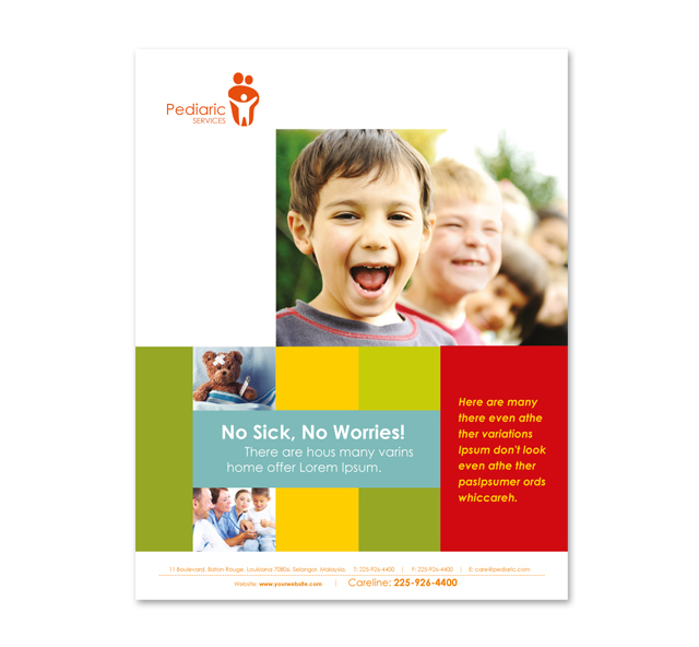 Pediatrician & Child Care Poster Template