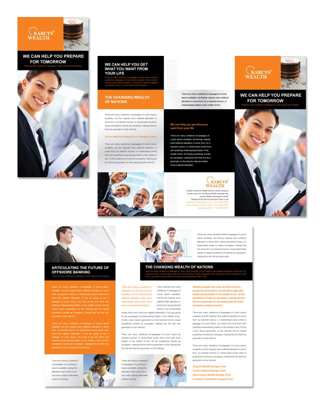 Wealth Management Services Tri Fold Brochure Template