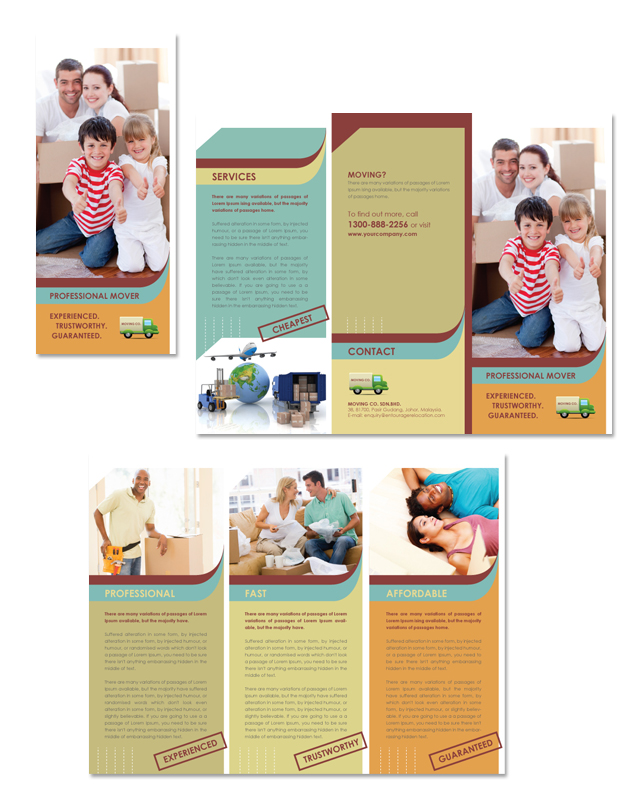 Movers  Moving Company Tri Fold Brochure Template