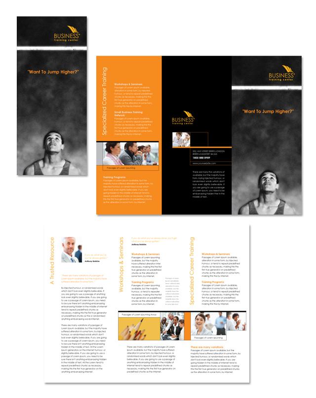 Business Training Center Tri Fold Brochure Template Dlayouts Blog