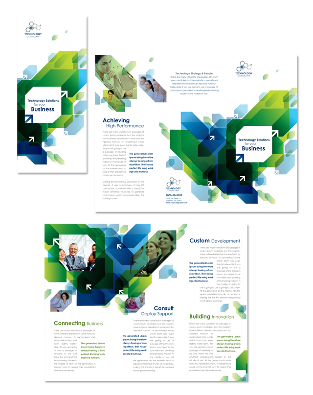 Technology Consulting Tri Fold Brochure Template - Consulting brochure template