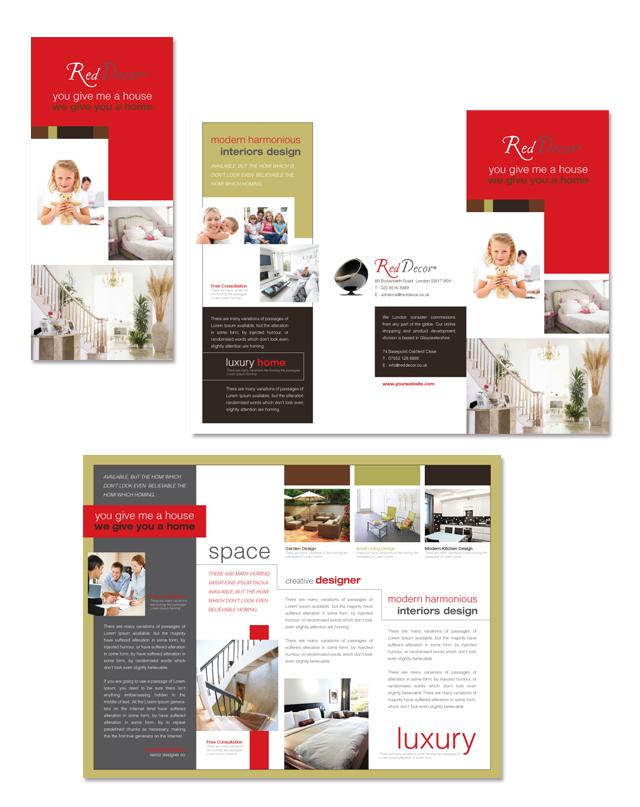 Interior Designer Tri Fold Brochure Template