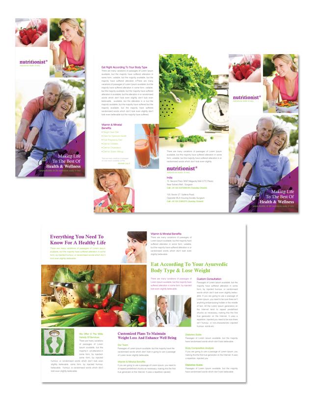 Nutritionist & Dietician Tri Fold Brochure Template