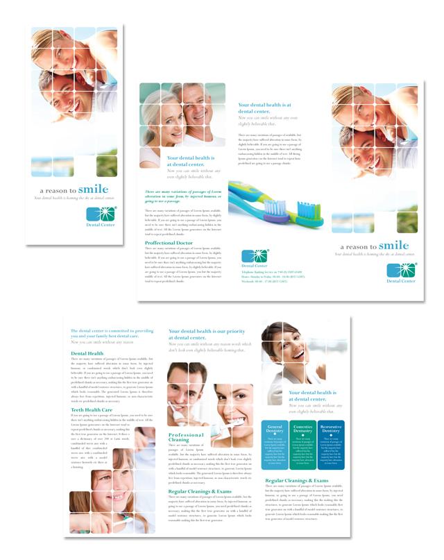 Dentistry Dental Office Tri Fold Brochure Template - Dental brochure template