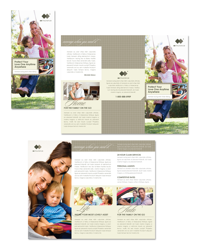 Tri Fold Brochures Archives Page Of DLayouts Graphic - Insurance brochure template