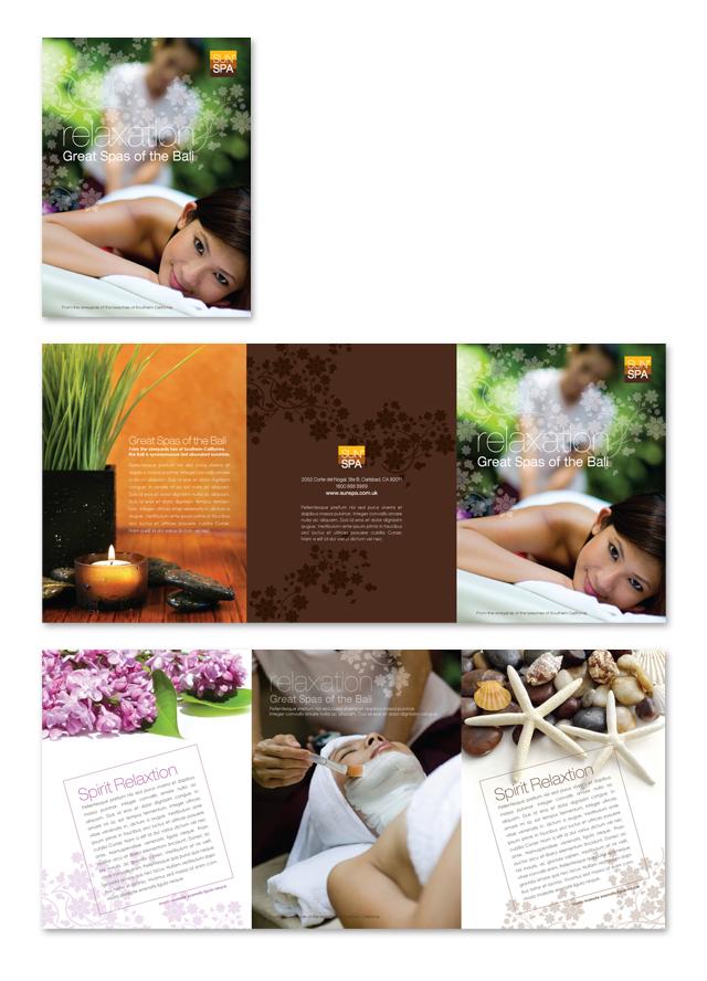 Beauty Spa Salon Tri Fold Brochure Template