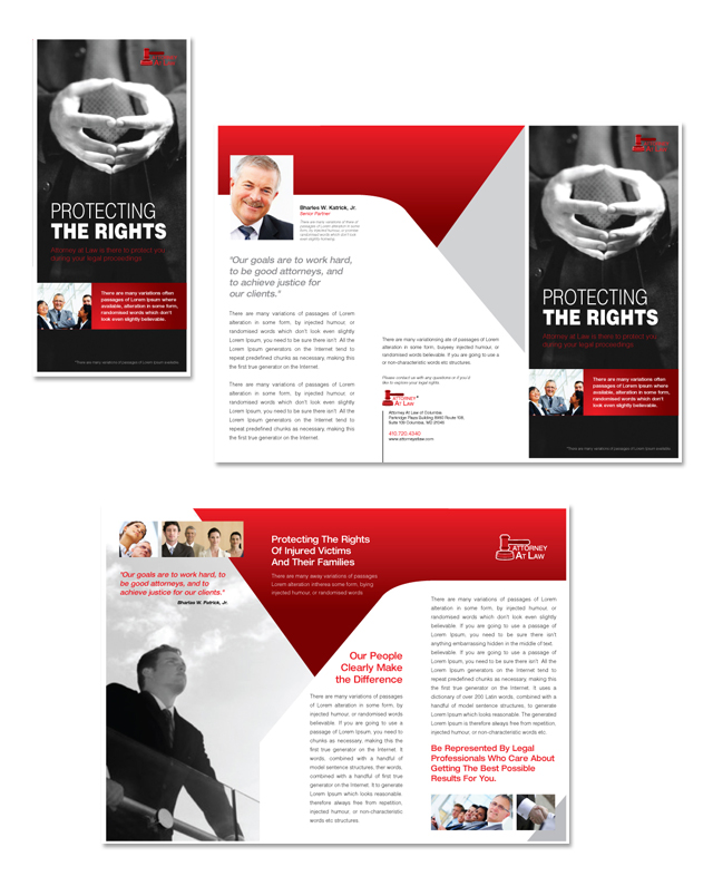 Attorney at law tri fold brochure template for Legal brochure template