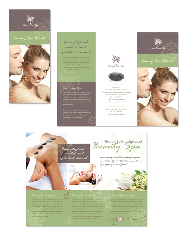 Spa Beauty Centre Tri Fold Brochure Template  Dlayouts Graphic