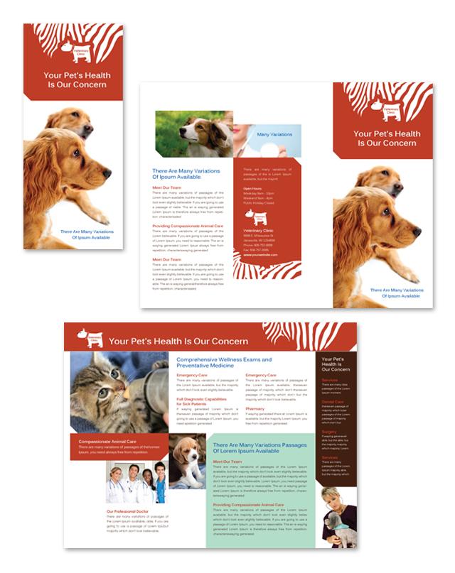 Veterinary brochure template | inkd.