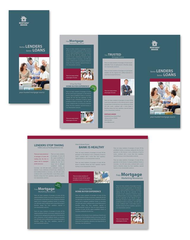 Mortgage Lenders Tri Fold Brochure Template - Mortgage broker flyer template