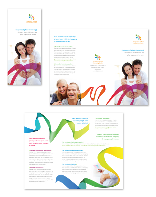 Pregnancy options counseling tri fold brochure template for Counseling brochure templates free