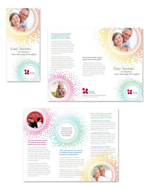 Marriage counseling tri fold brochure template for Counseling brochure templates free