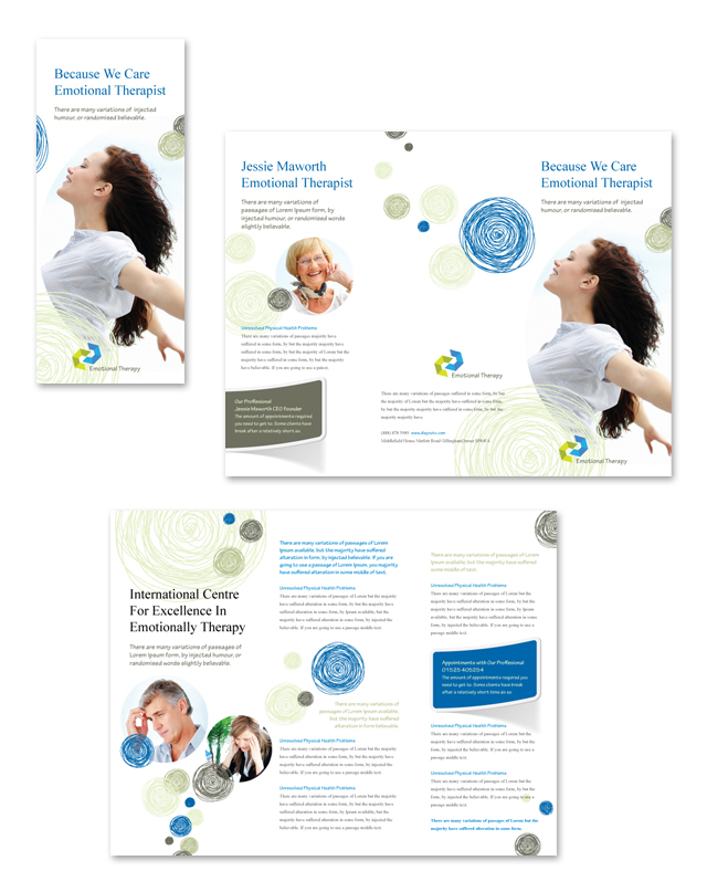 Emotional Therapy Tri Fold Brochure Template