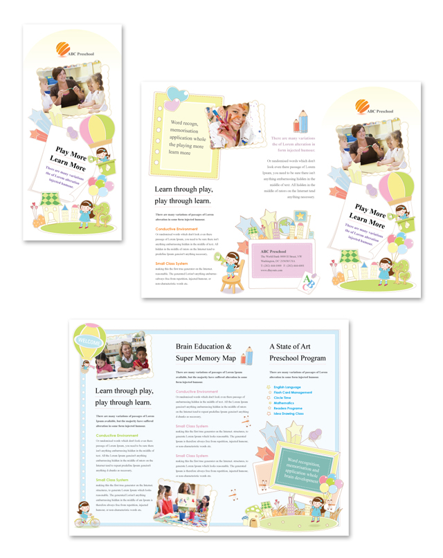 preschool brochure template preschool tri fold brochure template