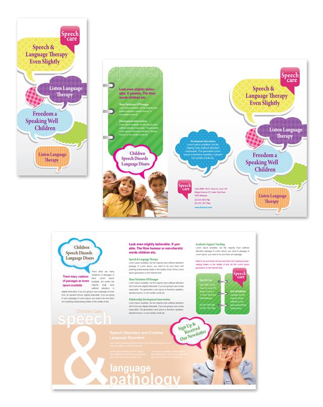 Speech & Language Pathology Tri Fold Brochure Template