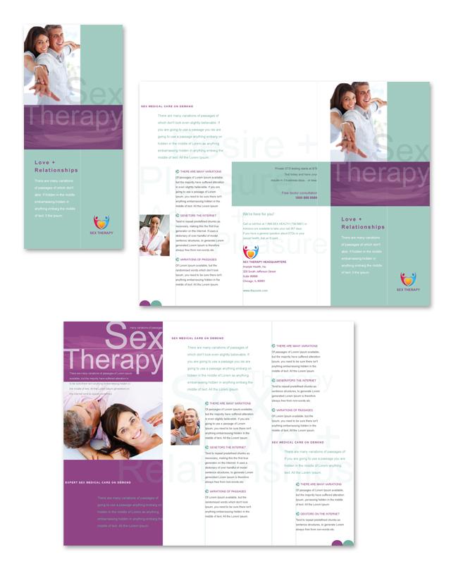 Sex Therapy Tri Fold Brochure Template