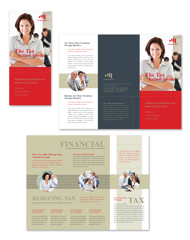 Accounting tax services tri fold brochure template pronofoot35fo Gallery