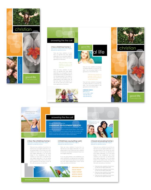Christian Ministry Tri Fold Brochure Template