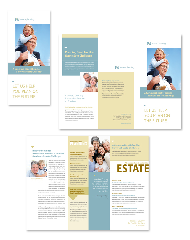 Estate Planning Tri Fold Brochure Template