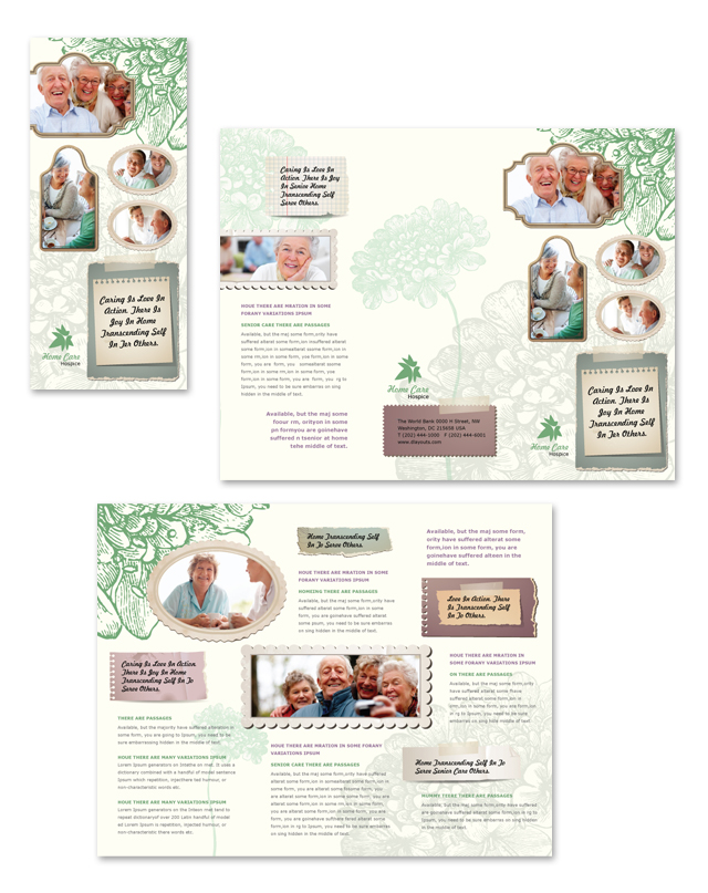 Home care tri fold brochure template for Home care brochure template