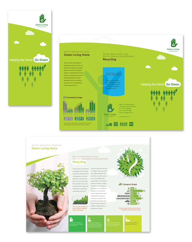 Recycling Tri Fold Brochure Template DLayouts Graphic
