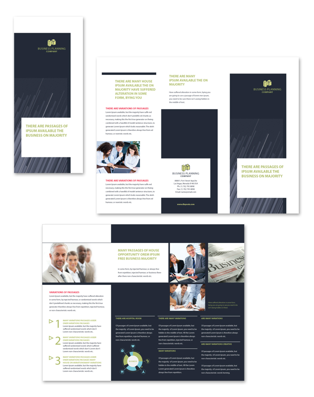Business Planning Tri Fold Brochure Template