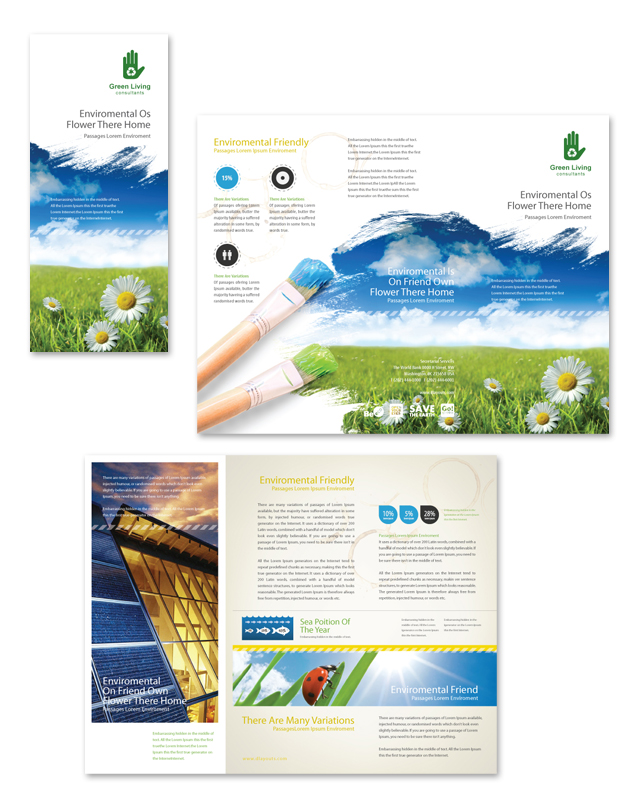 Environmental Groups Tri Fold Brochure Template