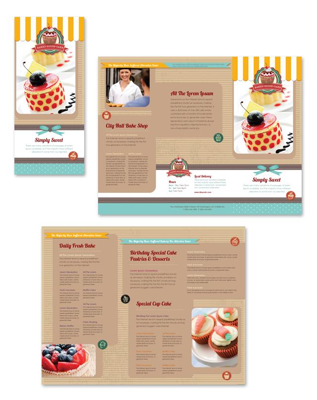 Cakery Tri Fold Brochure Template
