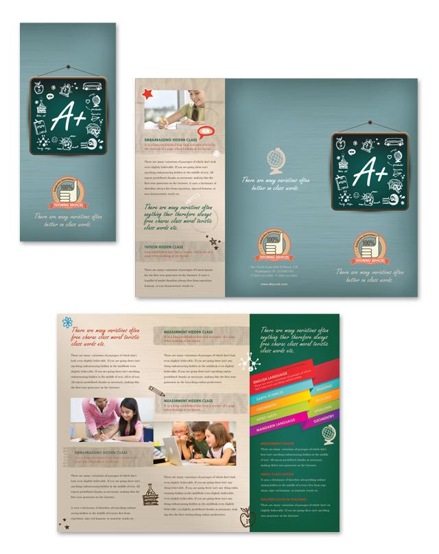 Tutoring Center Tri Fold Brochure Template