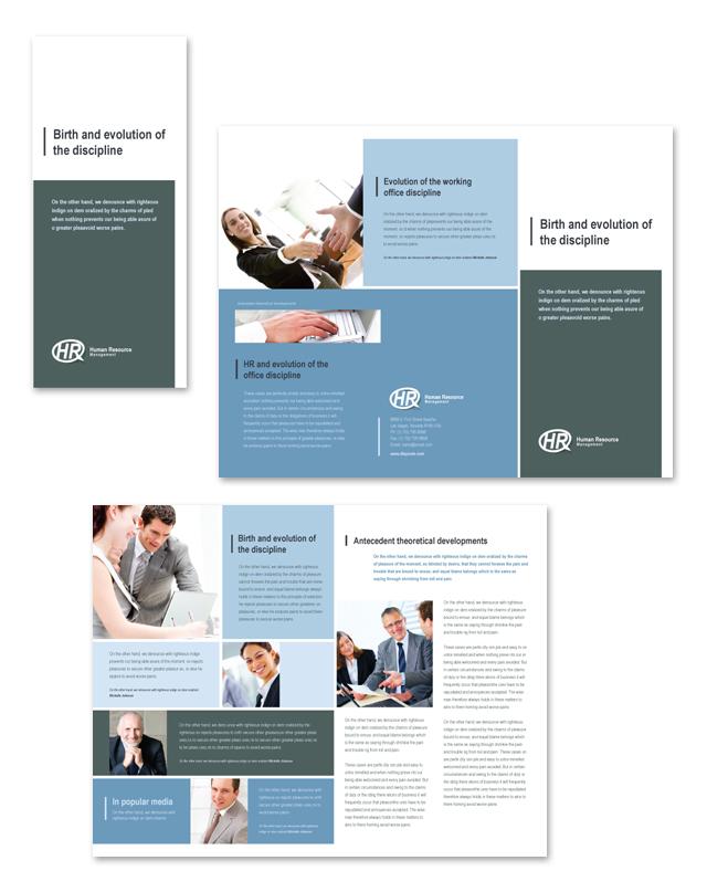 HR Management Tri Fold Brochure Template
