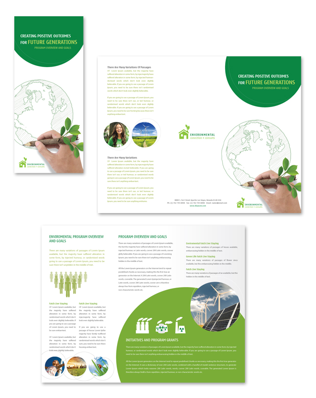 Environmental protection tri fold brochure template for Environmental protection plan template