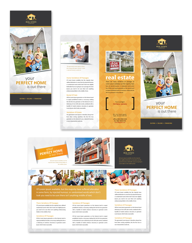 real estate prospectus template - real estate tri fold brochure template