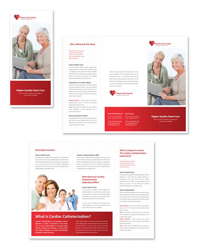 Heart Care Center Tri Fold Brochure Template