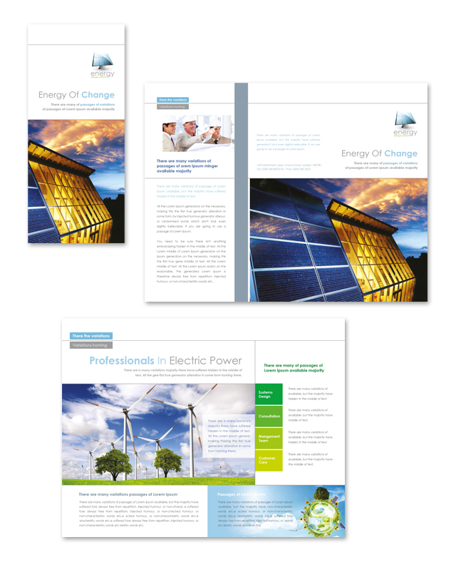 Renewable Energy Consulting Tri Fold Brochure Template - Consulting brochure template