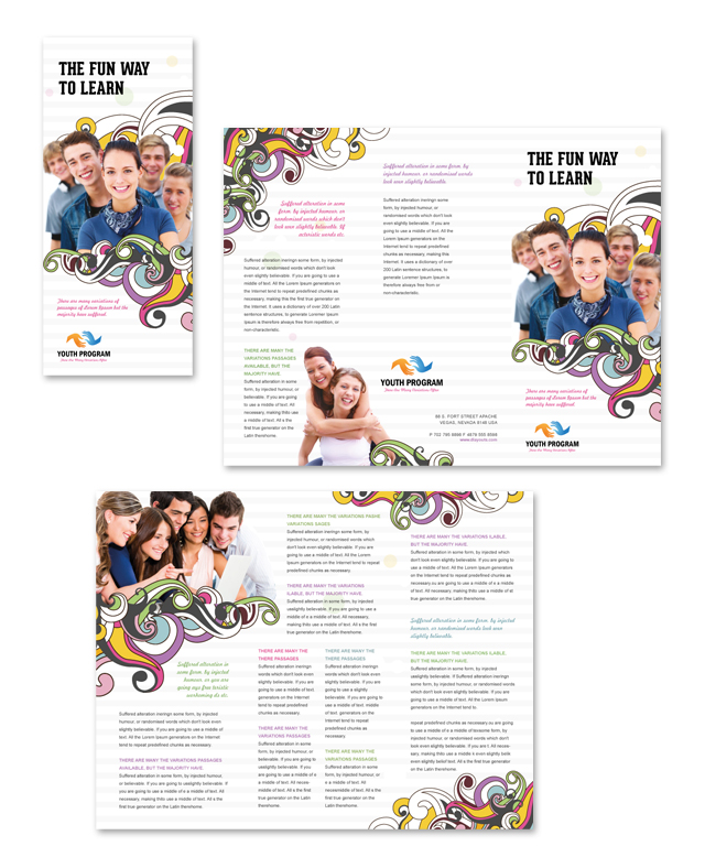 program brochure templates youth education program tri fold brochure template