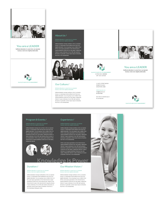 Business Education Tri Fold Brochure Template