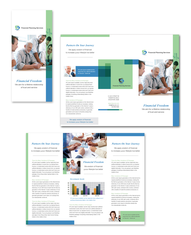 consulting brochure template - financial planning consulting tri fold brochure template