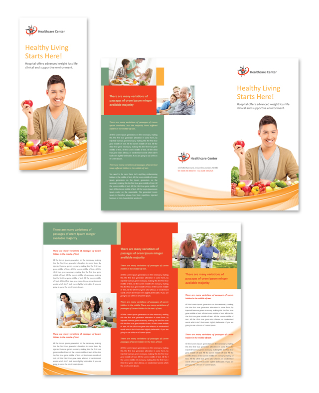 Healthcare Management Tri Fold Brochure Template – Health Brochure Template