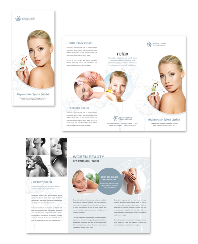 Beauty Salon Tri Fold Brochure Template