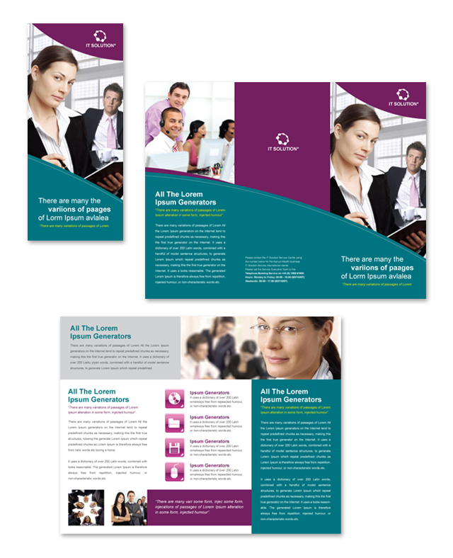DLayouts  Microsoft Word Tri Fold Brochure Template