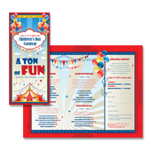 Kids carnival day poster template kids carnival day tri fold brochure template pronofoot35fo Gallery